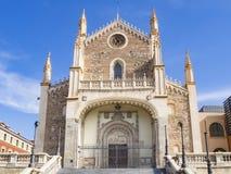 Jeronimos kyrka i Madrid Royaltyfri Fotografi