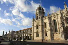 jeronimos monasteru widok Obrazy Royalty Free