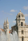 Jeronimos Monastery. Empire Square, Belem, Portugal Royalty Free Stock Images