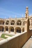 Jeronimos Monastery. Empire Square, Belem, Portugal Royalty Free Stock Photo