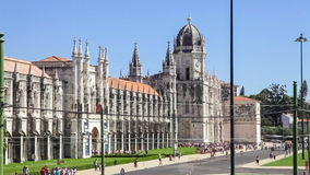 Jeronimos Monastery with the Archeology Museum, Lisbon stock footage