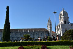 Jeronimos Monastery at Belem in Lisbon, Portugal Royalty Free Stock Photography
