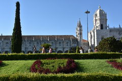 Jeronimos Monastery at Belem in Lisbon, Portugal Royalty Free Stock Images