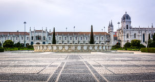 Jeronimos Monastery or Hieronymites Monastery. Royalty Free Stock Photography