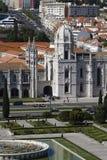 The Jeronimos Monastery or Hieronymites Monastery Stock Photography