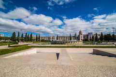 10 July 2017 - Lisbon, Portugal. The Jeronimos Monastery or Hieronymites Monastery is located in Lisbon, Portugal Royalty Free Stock Image