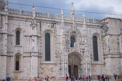Jeronimos Monastery in Lisbon - entry Stock Photography