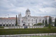 Jeronimos Monastery in Lisbon. Maritime Museum and Jeronimos Monastery in Lisbon, Portugal Stock Image
