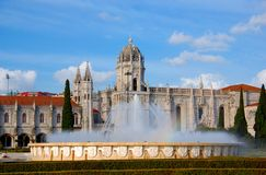Jeronimos Monastery in Lisbon (Portugal) Royalty Free Stock Images