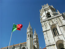 Jeronimos monastery - Lisbon - Portugal. A view of Jeronimos Monastery (Mosteiro dos Jeronimos) located in Lisbon, Portugal Royalty Free Stock Photography
