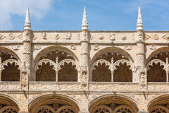 Jeronimos Monastery, Lisbon, Portugal. Arcades in famous Unesco Heritage Jeronimos Monastery in Lisbon, Portugal Royalty Free Stock Image