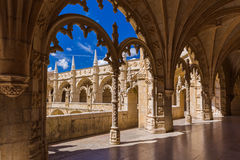 The Jeronimos Monastery - Lisbon Portugal. Architecture background Stock Image