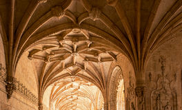 Jeronimos Monastery, Lisbon, Portugal. Tourists in famous Unesco Heritage Jeronimos Monastery in Lisbon, Portugal Stock Photos