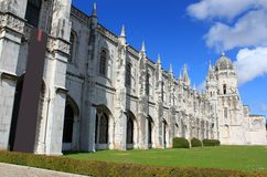 Jeronimos monastery in Belem, Portugal royalty free stock image
