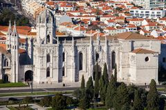 Jeronimos Monastery from the top Stock Image
