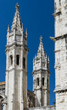 Jeronimos Monastery towers detail, Lisbon, Portugal Stock Photos