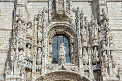 Jeronimos stonework Royalty Free Stock Image