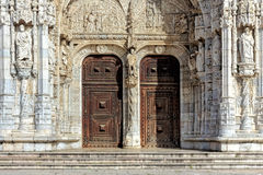 Jeronimos stonework Royalty Free Stock Images
