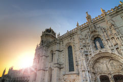 Jeronimos sunset Royalty Free Stock Images