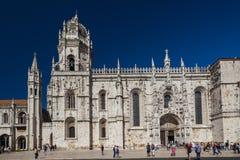 jeronimos van igrejados in Lissabon Royalty-vrije Stock Foto