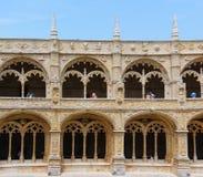 Jeronimosklooster in Belem, Lissabon, Portugal Manuelinestijl Unesco-Werelderfenis 25 kunnen 2017 Stock Foto's