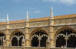 Jeronimosklooster in Belem, Lissabon, Portugal Manuelinestijl Unesco-Werelderfenis 25 kunnen 2017 Stock Fotografie