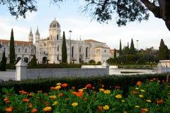jeronimoskloster royaltyfria bilder