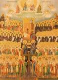 Jerozolima - ikona hierarchia niebo w kościół Święty Sepulchre Fotografia Stock