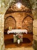 JEROZOLIMA IZRAEL, Lipiec, - 15, 2015: Jeden małe kaplicy w Zdjęcie Royalty Free