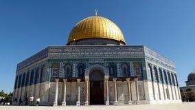 JEROZOLIMA IZRAEL, MAJ, - 21, 2013: Kopuła Rockowa fasada w Jerozolima Zdjęcie Stock