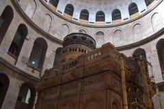 Jerozolima Izrael, Marzec, - 2018: Odwiedzać grobowa jezus chrystus w kościół Święty Sepulchre w Starym mieście Jerozolima, Izrae obrazy stock