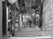 JEROZOLIMA IZRAEL, MARZEC, - 4, 2015: Targowa ulica w starym miasteczku przy pełną aktywnością Obraz Stock