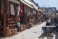 JEROZOLIMA IZRAEL, MARZEC, - 5, 2015: Targowa ulica w starym miasteczku przy pełną aktywnością Fotografia Royalty Free