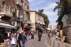 JEROZOLIMA, IZRAEL wschodniej jerozolimy ulica - 27 2017 FEB - Zdjęcie Royalty Free