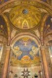 Jerozolima - 1922, 1924) mozaika Jezus w Gethsemane ogródzie w plebani kościół Wszystkie Nationsby Pietro d'Achiardi (- Fotografia Stock