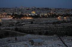 Jerozolima nocą Zdjęcia Royalty Free