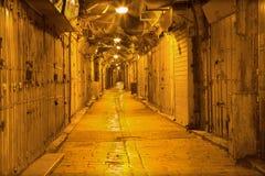 Jerozolima - ranek targowa ulica w arabski distric stary miasteczko Fotografia Royalty Free