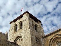 Jerozolimski Święty Sepulcher wierza Grudzień 2012 obraz stock