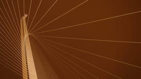 Jerozolimski akordu most przy nocą Obraz Stock