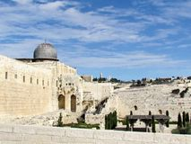 Jerozolimski Aksa meczet i góra oliwki 2012 Obraz Stock