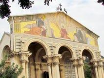 Jerozolimski kościół Wszystkie narody rzeźbi na kolumnach 2012) Fotografia Royalty Free