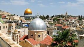 Jerozolimski panoramiczny antena dachu widok zbiory wideo