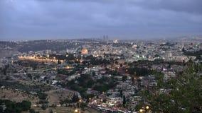 Jerozolimski panoramiczny zmierzchu widok zdjęcie wideo