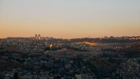 Jerozolimski panoramiczny zmierzchu widoku czasu upływ zdjęcie wideo