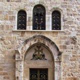 Jerozolimskiego Świętego Sepulcher Armeńska kaplica St John 2012 obrazy royalty free