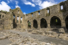 Jerpoint Abbey is ruined Cistercian abbey near Thomastown, County Kilkenny, Ireland. Royalty Free Stock Photos