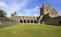 Jerpoint Abbey. Is ruined Cistercian abbey near Thomastown, County Kilkenny, Ireland Stock Image