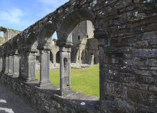 Jerpoint Abbey. Is ruined Cistercian abbey near Thomastown, County Kilkenny, Ireland Stock Photo