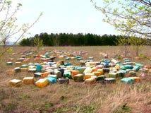 Jerricans plástico Imágenes de archivo libres de regalías