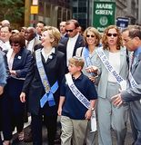 Jerrold Nadler and Hillary Clinton. New York Congressman Jerrold Nadler and First Lady and New York senatorial candidate Hillary Clinton are among the bigwigs Royalty Free Stock Image